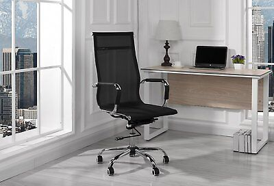 Modern High-back Mesh Fabric Office Chair Conference Office Chair Black