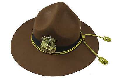 Adult Super State Trooper Highway Patrol Mountie Campaign Ranger Costume Hat