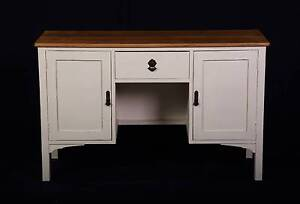 Attractive Antique 1920's CREAM buffet/writing table,DEL. AVAIL Oakford Serpentine Area Preview