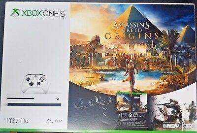 New  Xbox One S 1Tb Console Assassins Creed Origins W Rainbow 6 Siege Bundle
