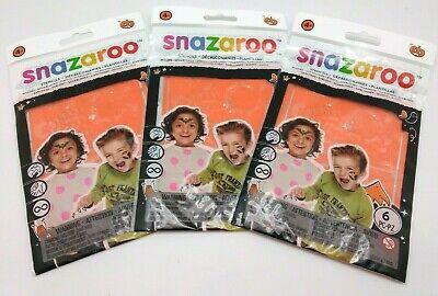 3x Snazaroo Face Paint Stencils: Halloween 6Pc Set - Snazaroo Halloween Faces