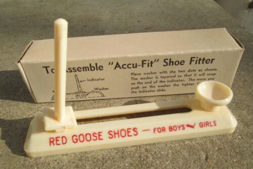 """Vintage """"ACCU-FIT"""" Shoe Fitter  Red Goose Shoes NEW in Box"""