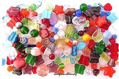 1/4 LB Assorted Mix Bulk 100% Czech Bohemian Glass Bulk Lot Spacer Beads](Beads Bulk)