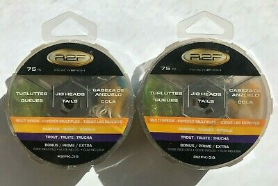 - 2 Ready2Fish Trout Panfish Jighead/Tail Kits (150 pieces total) R2FK-39