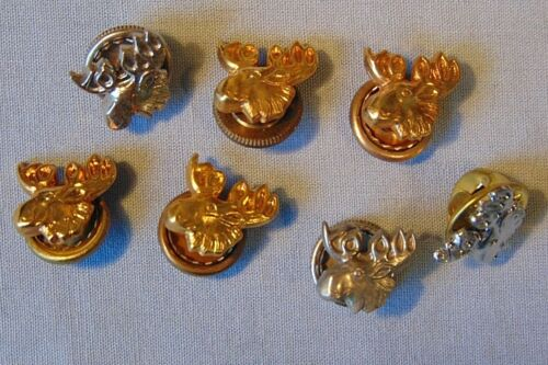 Loyal Order Of Moose LOOM Vintage Lapel Pins Gold Tone Silver Tone Lot Of 7