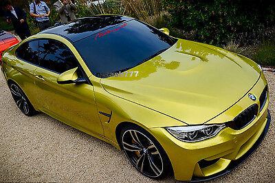 MOTORSPORT Performance Car Windshield Decal sticker emblem logo RED Fits: BMW