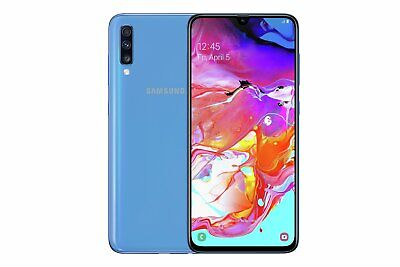 SIM Free Samsung A70 6.7 Inch 128GB 32MP 4G Android Mobile Phone - Blue.