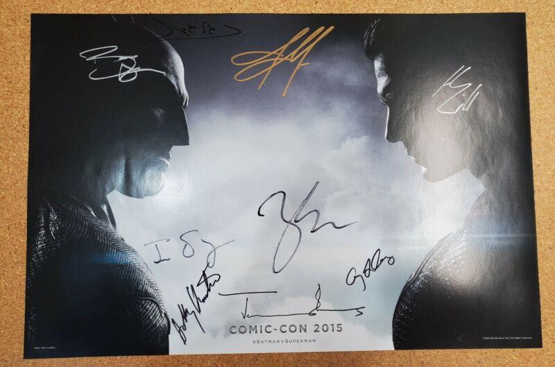 Batman v Superman SDCC 2015 cast signed Snyder Cut Cavill, Affleck,Gadot + 6