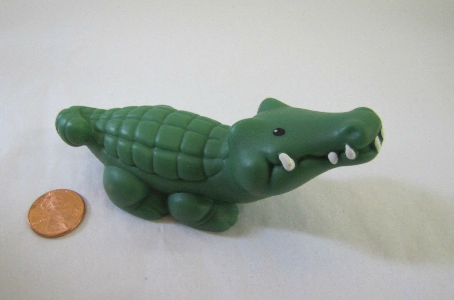 Fisher Price Little People ALLIGATOR MALE GREEN For ZOO ARK PIRATE Crocodile  - $5.21
