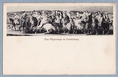 VINTAGE POSTCARD - THE PILGRIMAGE TO CANTERBURY  - Unposted