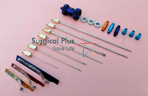 Liposuction Luer Lock Cannula Set of 7 Fat Transfer Plastic Surgery