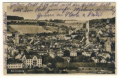 RAVENSBURG Türme / Bahnlinie * Foto-AK um 1930