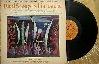 Bird Songs in Literature LP, Joseph Wood Krutch and Cornell Lab of Ornithology