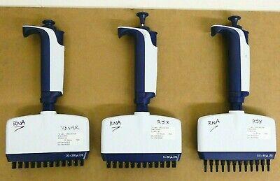 Set Rainin Pipet-lite L12-xls Multichannel Pipettes 12 Channel 0.5-200 Ul