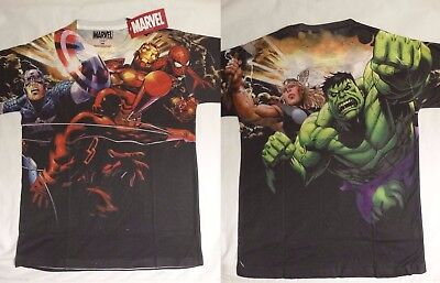 Daredevil Hulk Captain America Marvel Comics Costume Sublimation Print T-Shirt - Marvel Daredevil Costume