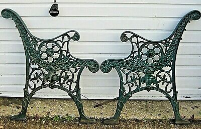 Extraordinary & Rare Highly Decorated Period Old Cast Iron Garden Seat