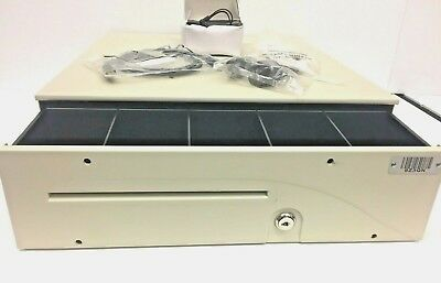 Apg Series 100 T441-3a-cw1616 Electronic Cash Drawer With Keys 16 X 16.8 Ivory