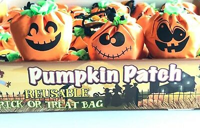 Reusable Halloween Pumpkin Face Trick or Treat Bag - For Candy & Gifts - CUTE