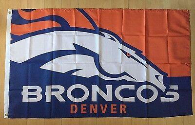 Denver Broncos Flag 3x5 ft Indoor/Outdoor Banner NFL