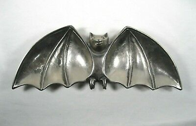 Halloween Party Serving Dishes (Bat Shaped Metal Platter Dish Halloween Party Gothic Punk Serving trinket Tray)