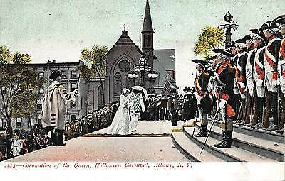 Postcard Coronation of the Queen Halloween Carnival in Albany, New York~108652 ()