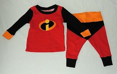 Neu Disney Baby Incredibles 2 Schlafanzüge Größe 9-12 M Langärmlig Kostüm