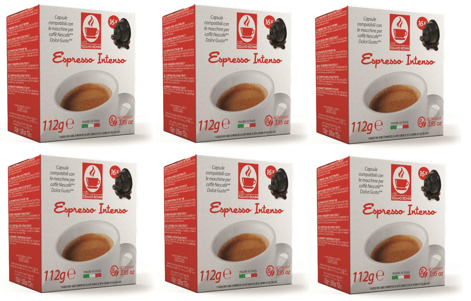 96 Dolce Gusto ® - Kompatible Kapseln Caffè Bonini Intenso - Espresso, 96 Stück