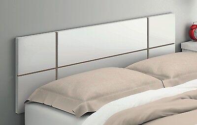 Cabecero cabezal 150 cm color blanco brillo de dormitorio cama matrimonio