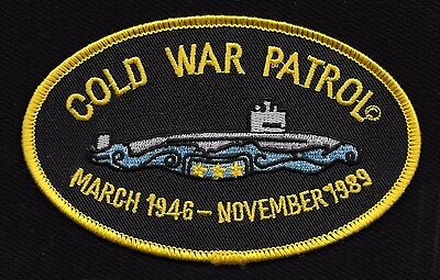 US Navy Submarine COLD WAR PATROL 1946 - 1989 Military Patch