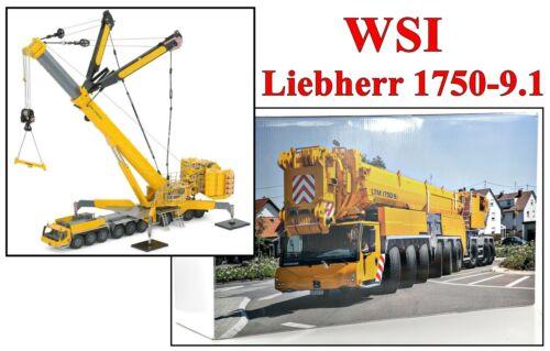 WSI Models Liebherr LTM 1750-9.1 Mobile Hydraulic Crane 1:50 Diecast New
