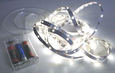 LED Strip Lichterkette 90 LEDs 300cm Batteriebetrieb SMD Streifen Band Leuchten