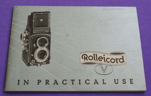 vintage ROLLEICORD V camera manual booklet guide GERMAN Germany