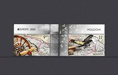 MOLDOVA, EUROPA CEPT 2020, ANCIENT POSTAL ROUTES with MARGINS, MNH