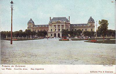 Argentina La Plata - Palacio de Gobierno old unused postcard