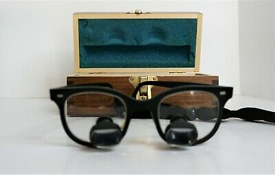 Designs For Vision 2.5x Magnification Loupes Glasses Black Frame Dental Surgical