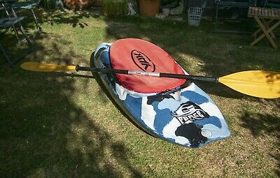 Dagger Gforce 6.1 playboat whitewater kayak camo + paddle & accessories