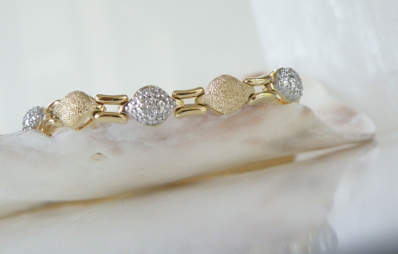 new 18k gold sterling silver 925 diamond