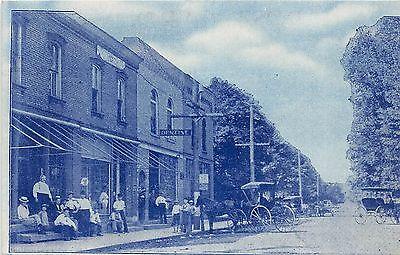A9/ Beach City Ohio Postcard c1910 Main Street Looking West Dentist (City Beach Stores)