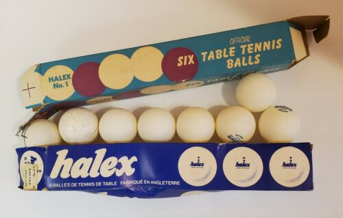 2 boxes Vintage Halex Table Tennis Balls w The Boxes Made In England Classic HTF
