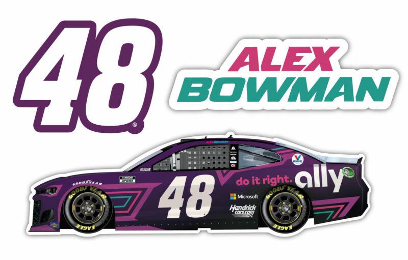 Alex Bowman NASCAR #48 3 Pack Laser Cut Decal