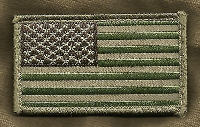 American USA Flag Tactical Combat Badge HOOK Morale Military Patch - Multicam
