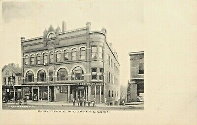 A View Of The Post Office, Willimantic, Connecticut CT (The Connecticut Post)