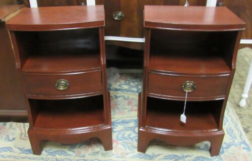 Vintage mahogany end tables or night stands by Hickory