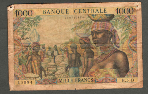 EQUATORIAL AFRICAN STATES ND (1963) 1000 FRANCS NOTE, P5B