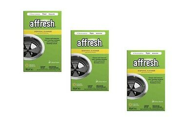 THREE 3 BOX BOXES Affresh W10509526 Garbage Disposal Cleaner clean & remove odor