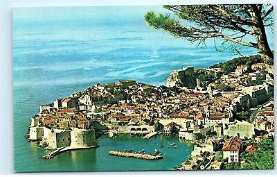 Pan Am Airline Yugoslavia Dubrovnik Dalmatian Coast Old Vintage Postcard B85