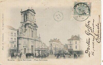 CPA - Belgique - Brussels - Bruxelles - St-Josse-ten-Noode - Place Saint-Josse