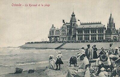 CPA - Belgique - Oostende - Ostende - Le Kursaal et la plage