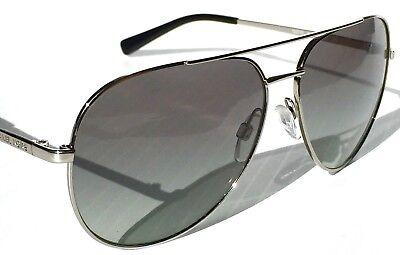 9d12440a30 NEW  MICHAEL KORS AVIATOR Silver w Grey Lens 58mm MK5009 Rodinara Sunglass