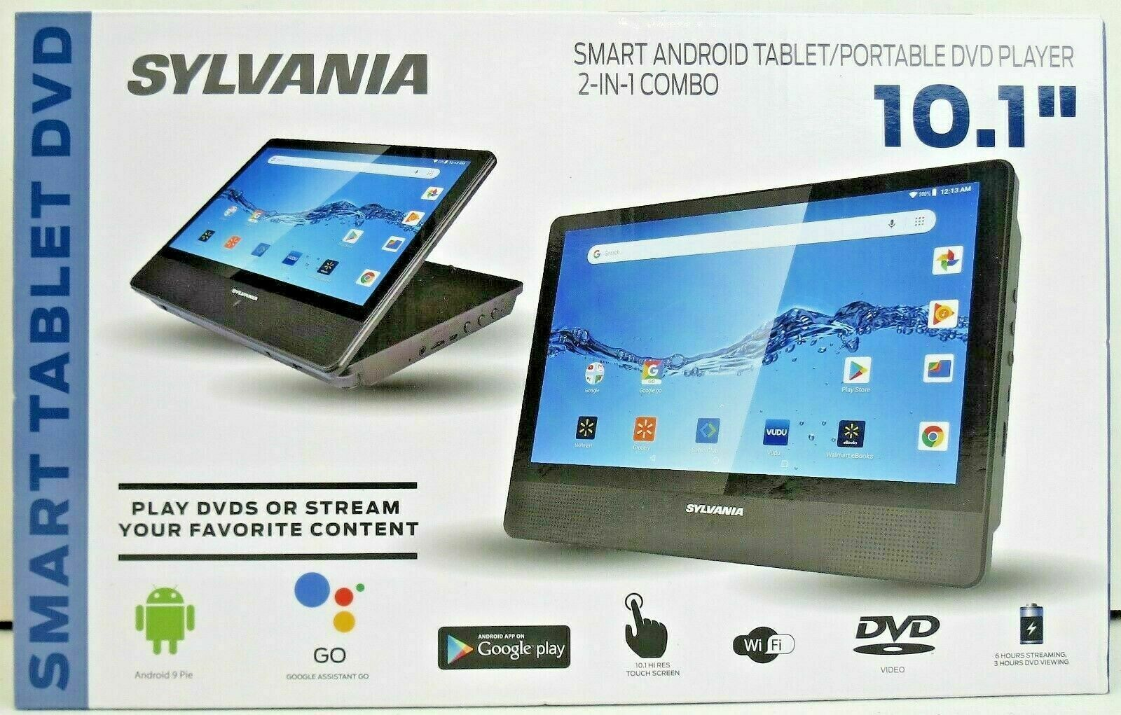 "BRAND NEW Sylvania 10.1"" Smart Android Tablet/Portable DVD P"